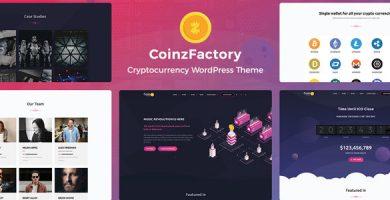 قالب CoinzFactory - قالب وردپرس ارز دیجیتال
