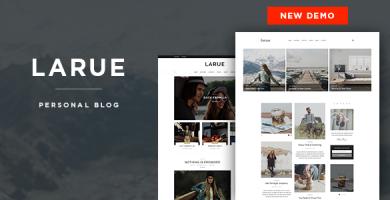 قالب Larue - قالب وبلاگ شخصی