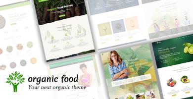 قالب Organic Food - قالب وردپرس متخصص تغذیه و غذا