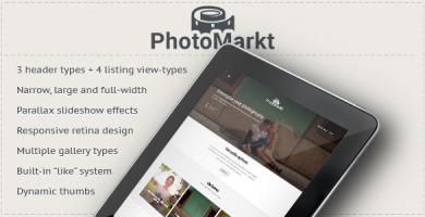 قالب PhotoMarkt - قالب وردپرس فروشگاه عکاسی