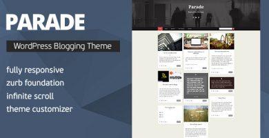 قالب Parade - قالب وردپرس وبلاگی