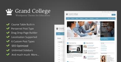 قالب Grand College - قالب وردپرس برای آموزش