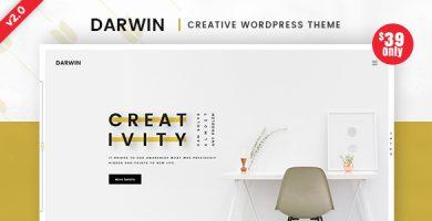 قالب Darwin - قالب وردپرس خلاق