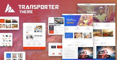 Transporter - قالب وردپرس حمل و نقل و تدارکات