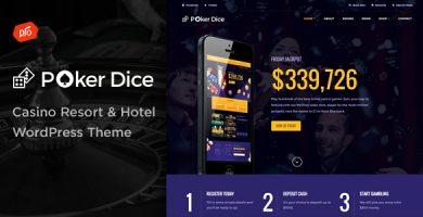 قالب Poker Dice - پوسته وردپرس هتل