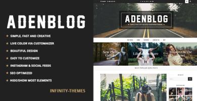 قالب Aden - قالب وردپرس وبلاگی