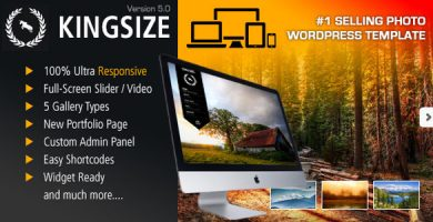 قالب KingSize - قالب تمام صفحه عکاسی
