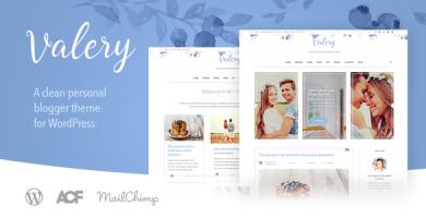 قالب Valery CD - قالب وبلاگ شخصی برای وردپرس