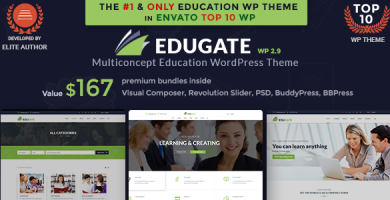 قالب Edugate Education - قالب وردپرس آموزشی