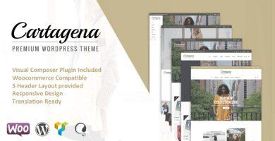 قالب Cartagena - قالب سایت فروشگاه مد