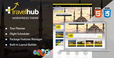 قالب Travelhub - قالب وردپرس گردشگری برای آژانس های مسافرتی