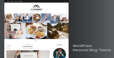قالب My Journey - قالب وردپرس وبلاگ شخصی