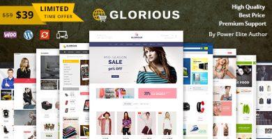 قالب Glorious - قالب فروشگاهی وردپرس