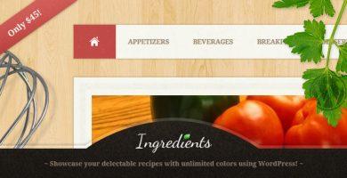 قالب Ingredients - قالب وردپرس سایت دستور العمل آشپزی