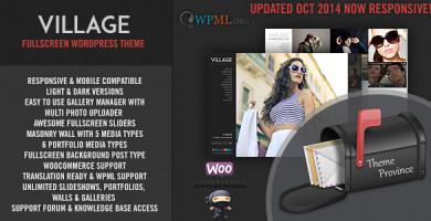 قالب Village - قالب وردپرس تمام صفحه