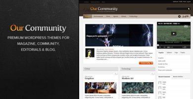 قالب Our Community - قالب وردپرس