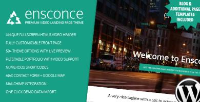 قالب Ensconce - صفحه فرود ویدئو وردپرس