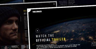 قالب The Space - قالب سایت کمپین فیلم