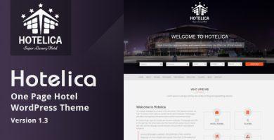 قالب Hotelica - قالب وردپرس تک صفحه ای هتل