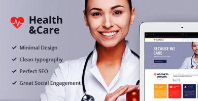 قالب Health & Care - قالب وردپرس پزشکی