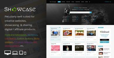 قالب Showcase - قالب وردپرس بلاگی گرید و ماسونری