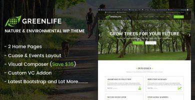 قالب Greenlife - قالب وردپرس طبیعت و محیط زیست