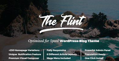 قالب Flint - قالب وردپرس بلاگی بهینه سازی شده