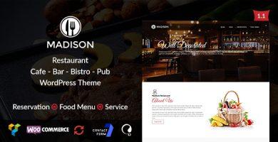 قالب Madison - قالب رستوران وردپرس