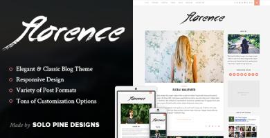 قالب Florence - قالب وبلاگ وردپرس