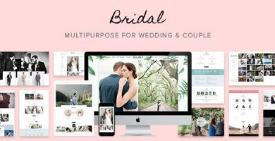 قالب Bridal - قالب وردپرس عروسی