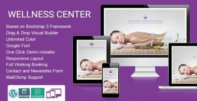 قالب WellnessCenter - قالب وردپرس سالن زیبایی و اسپا