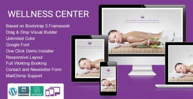WellnessCenter - قالب وردپرس سالن زیبایی و اسپا