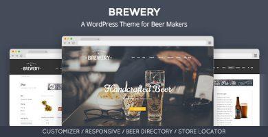 قالب Brewery - قالب وردپرس سازندگان دمنوش