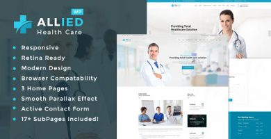 Allied Health Care - قالب سلامتی و پزشکی وردپرس