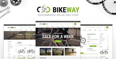 قالب Bikeway - پوسته وردپرس فروشگاه ورزشی