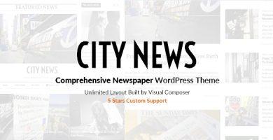 قالب CityNews - قالب وردپرس روزنامه