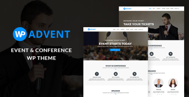 WPadvent - قالب وردپرس رویداد و کنفرانس