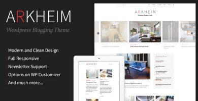 Arkheim - قالب وبلاگ وردپرس