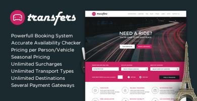 قالب Transfers - قالب وردپرس حمل و نقل و کرایه ماشین
