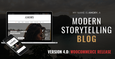 قالب Amory Blog - قالب وبلاگ وردپرس