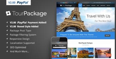قالب Tour Package - قالب وردپرس تور و گردشگری