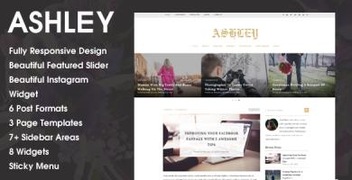 Ashley - قالب وردپرس وبلاگی