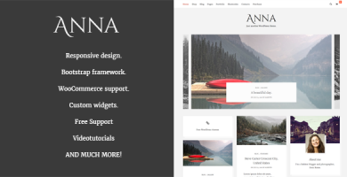 قالب Anna - قالب وردپرس وبلاگ و فروشگاه ساده