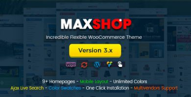 قالب مکس شاپ | Maxshop - قالب فروشگاهی وردپرس