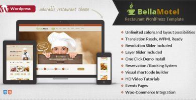 قالب Bella Recipe - قالب وردپرس دستور غذا و رستوران