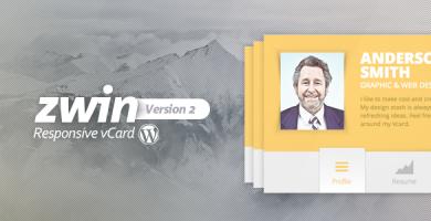 Zwin - قاب وردپرس کارت ویزیت مجازی