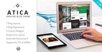 Atica - قالب وردپرس وبلاگ خلاقانه