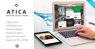 قالب Atica - قالب وردپرس وبلاگ خلاقانه