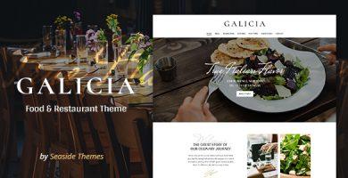 قالب Galicia - قالب وردپرس رستوران