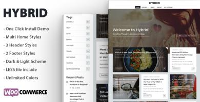 قالب Hybrid - قالب وردپرس مدرن و ساده وبلاگی